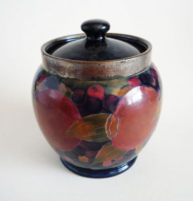 Early William Moorcroft 'Pomegranate' Humidor and Cover c1916